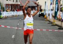 running record 21k maraton mujeres