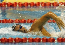 Australia's Thorpe swims during the men's 200m Freestyle heats at the 2012 Australian Swimming Championships in Adelaide