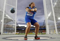 Dahlgren of Argentina competes during the women's hammer throw final at the IAAF World Athletics Championships in Daegu