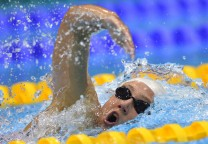 US swimmer Katie Ledecky competes in the