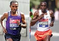 kipchoge bekele running marathon maraton
